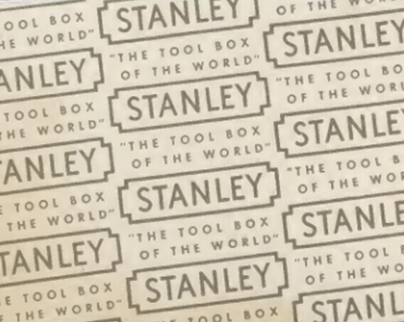 Pattern of a vintage STANLEY logo in the year 1857
