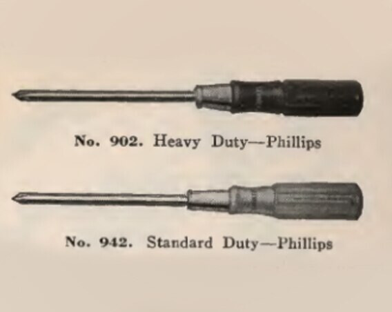 STANLEY vintage drawings of the firsts screwdrivers in the year 1870