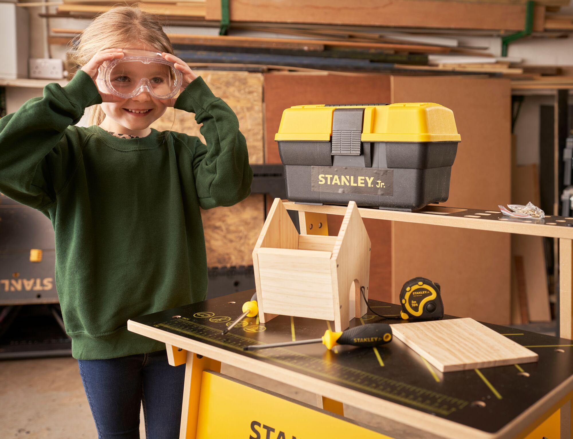 Stanley® Jr. Wooden Diy Bird Feeder Kit Lifestyle Shot