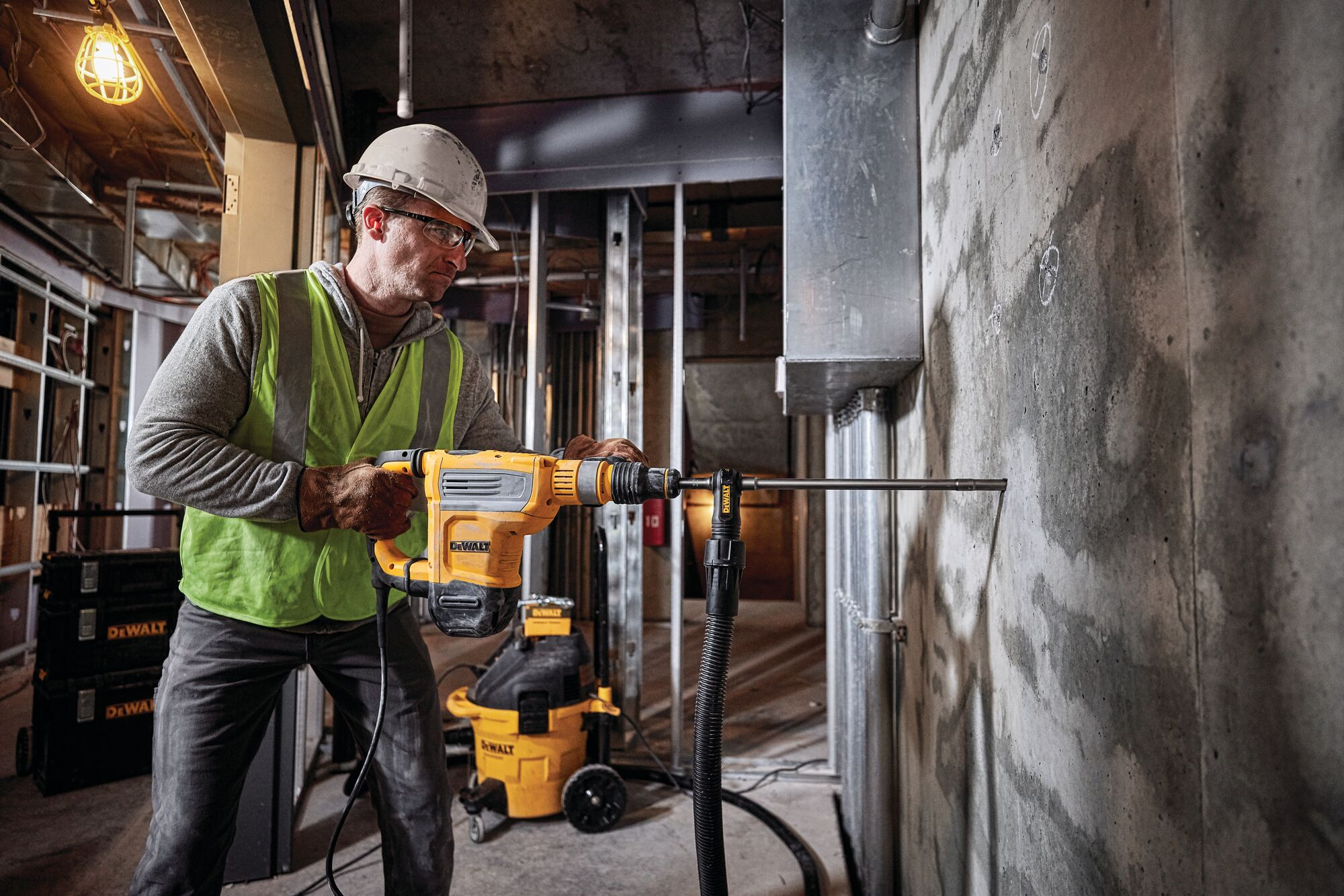 SDS MAX Combination rotary hammer being used by person